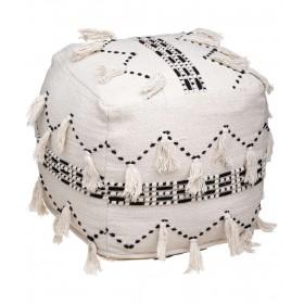 Puf boho de algodón natural