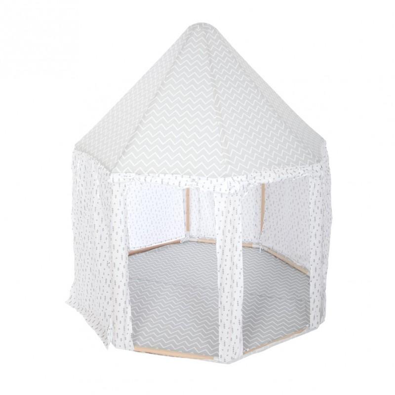 Yurta tente gris et blanc 140x119,5cm