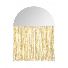 Claire Espelho tiras douradas 34x25x0,3cm