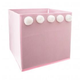 Pompon caixa de armazenamento para crianças 29x29x29cm