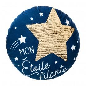 Cojín estrella azul diam.40cm