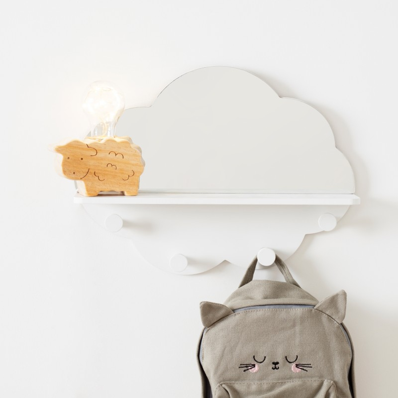 Cloud espejo perchero 37,5x28x9cm