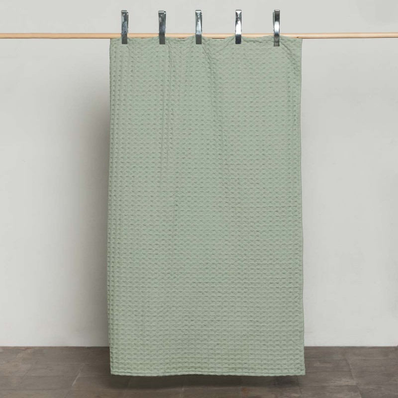Colcha panal verde. Cama 135/150 x 190/200 cm.