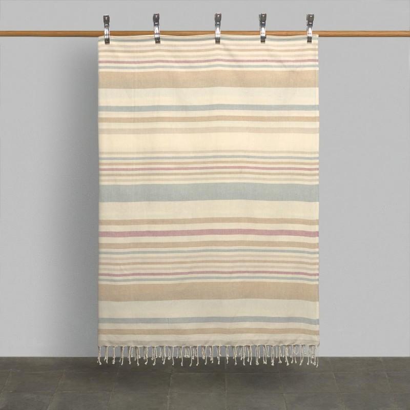 Colcha líneas naturales. Cama 90/105 x 190/200cm