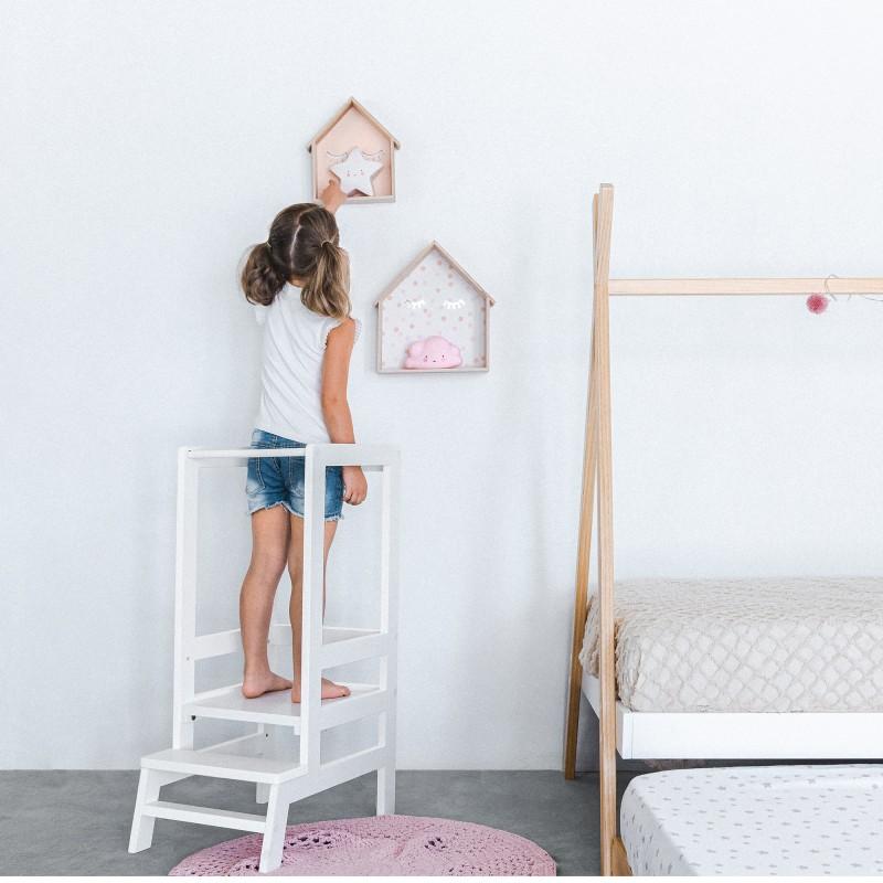 Montessori torre de aprendizagem 90x39x51cm