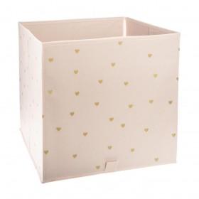 Corazón gold caja almacenamiento 30x29x30cm