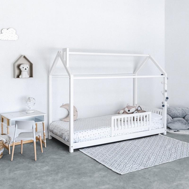 Montessori 2 cama infantil casita com quimenea 90x190cm