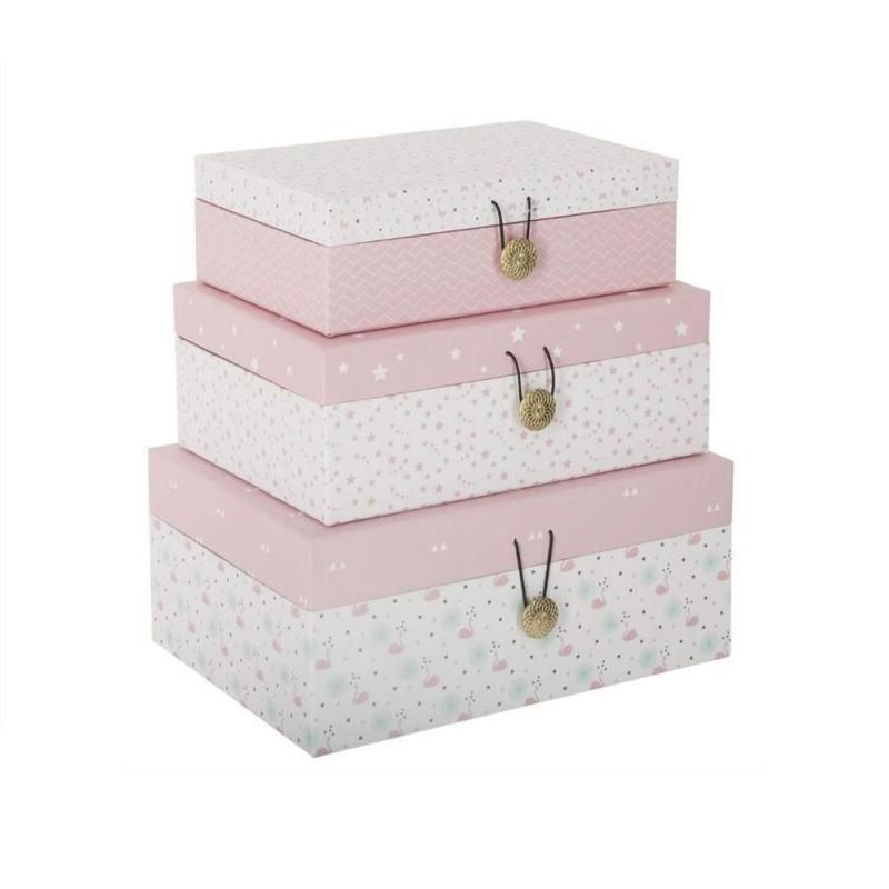 Juego de 3 cajas decorativas