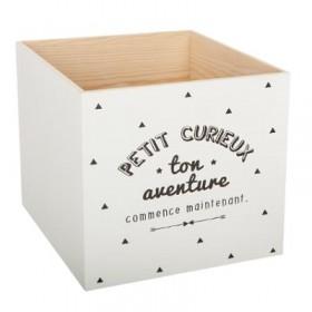 Aventura caixa de madeira 20x20x17,5cm