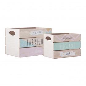 Secrets pack 2 caixas S:17x24x15cm/M:20x30x20cm