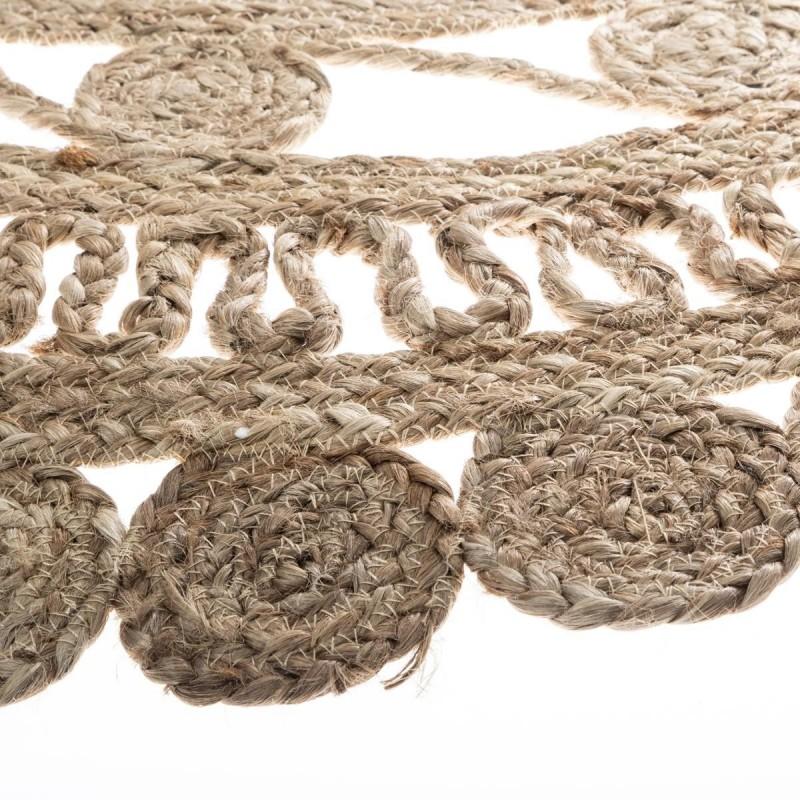 Ritual trenzada alfombra de yute ø120cm.
