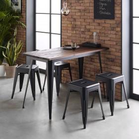 Linx table de cuisine 75x120x60cm
