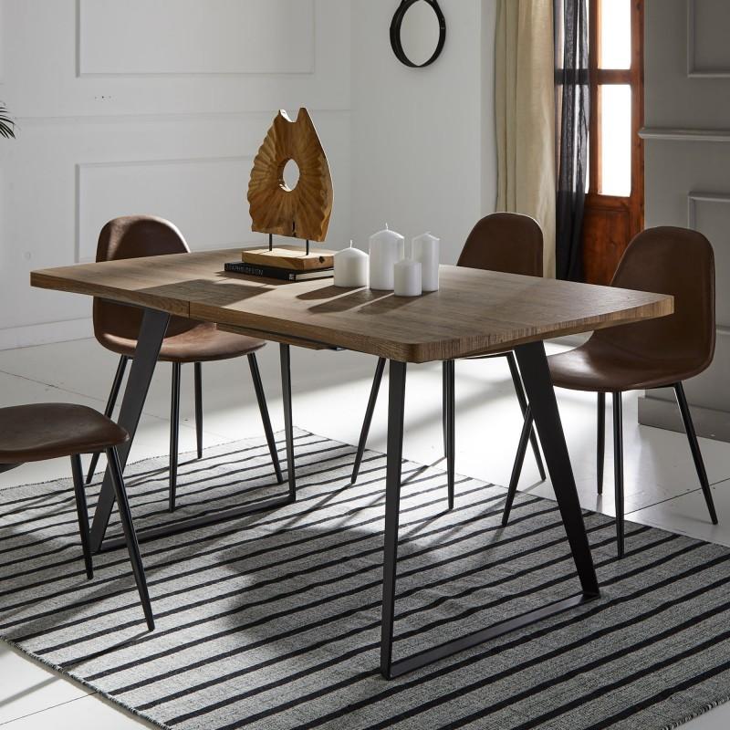 Detroit tavolo estendibile 79,5x160x90cm
