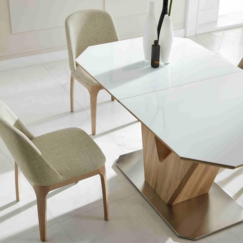 V table à manger avec allonge 78x160x90cm