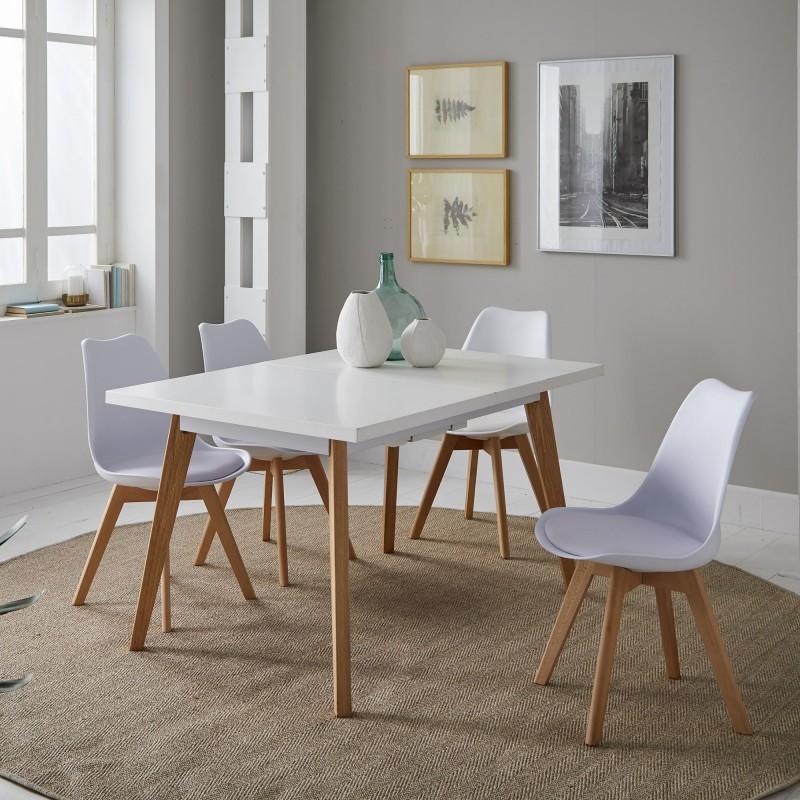 Nordic tavolo da pranzo allungabile 75x140/180x90cm