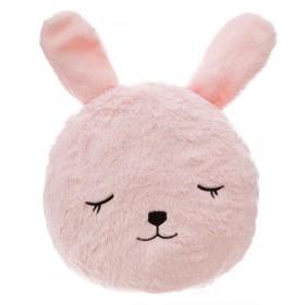Conejo coussin rose 27x27cm