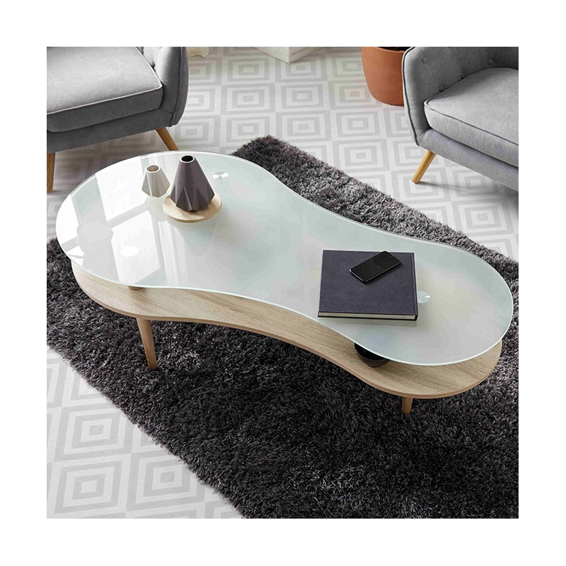 Nordic mesa de café 70x140x60cm