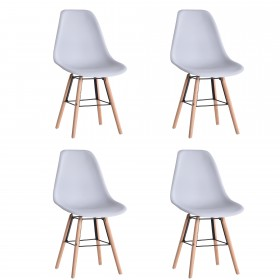Tower 2, silla gris pack de 4, 83x51x47cm