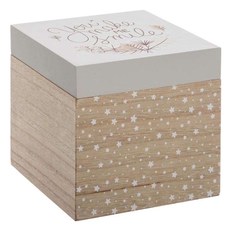 Bambi paquet de 3 boîtes en bois S:14x14x14cm/M:16x30x16cm
