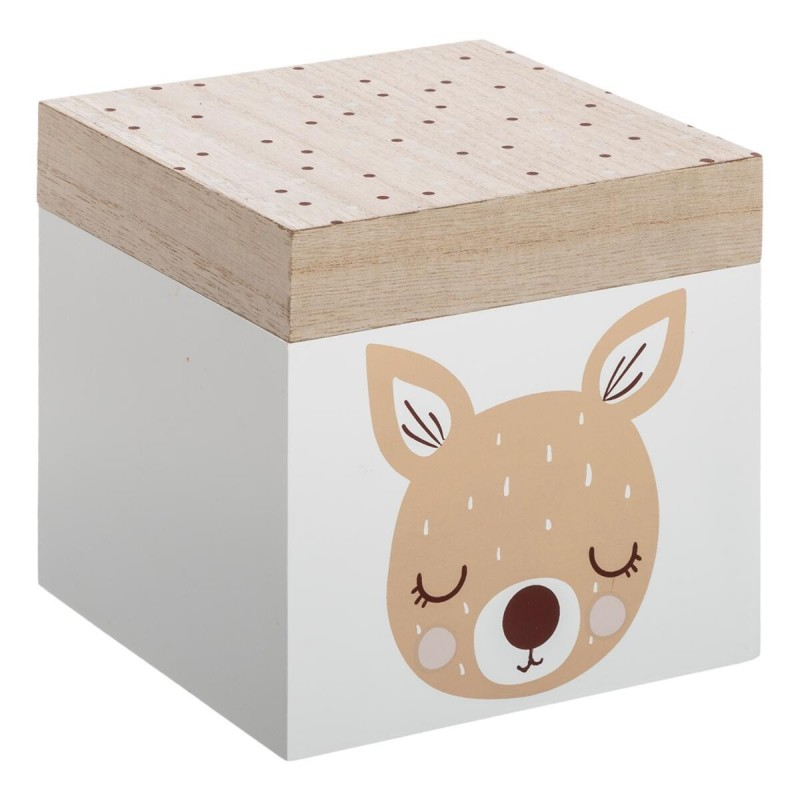 Bambi confezione da 3 scatole di legno S:14x14x14cm/M:16x30x16cm