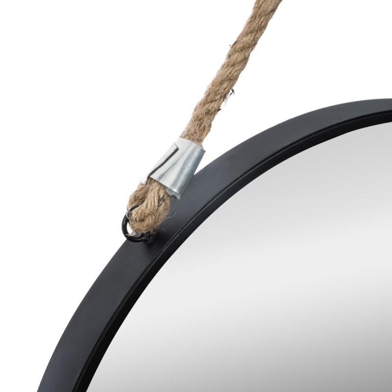 London espejo redondo de metal y cuerda ø55x2,5cm