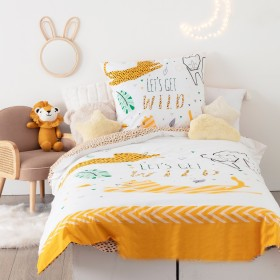 Jungle conjunto funda nórdica infantil. Cama 90x190cm