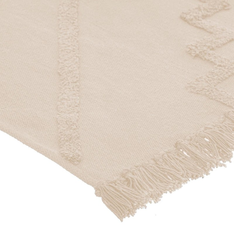 Geométrica alfombra color marfil 120x170 cm