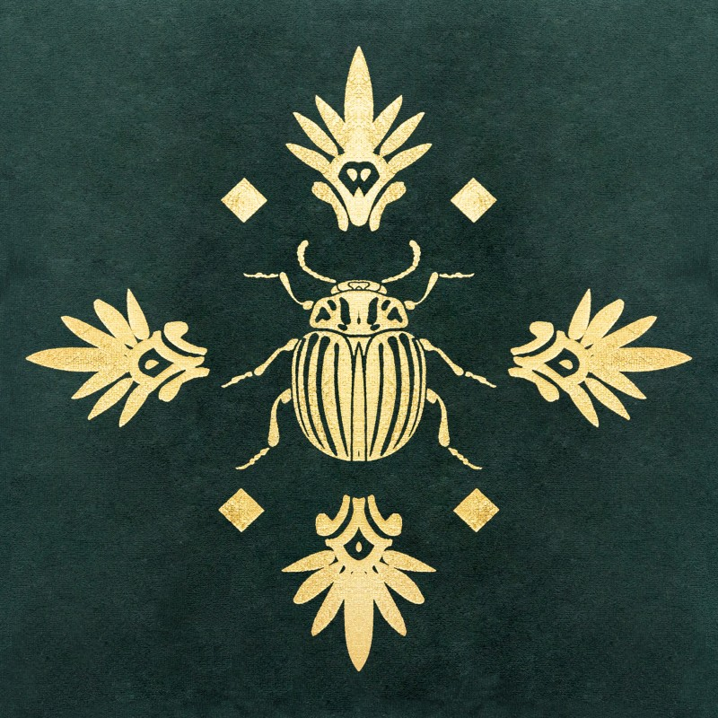Escarabajo velvet cojín 40x40 cm