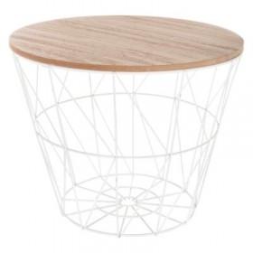 Geometric mesa auxiliar 30xø38cm