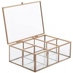 Gold Geometric boîte à bijoux 7x20x14cm