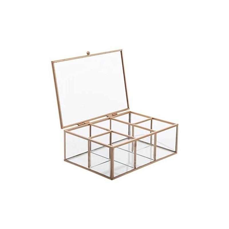 Gold Geometric caixa de jóias 7x20x14cm