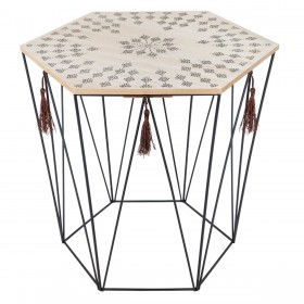 Boho et pompon table 43 cm