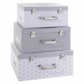 Star pack de 3 valises talle L:16,5x36x27,5cm