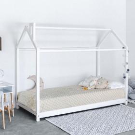 Montessori 2 cama infantil casita con chimenea 90x190cm