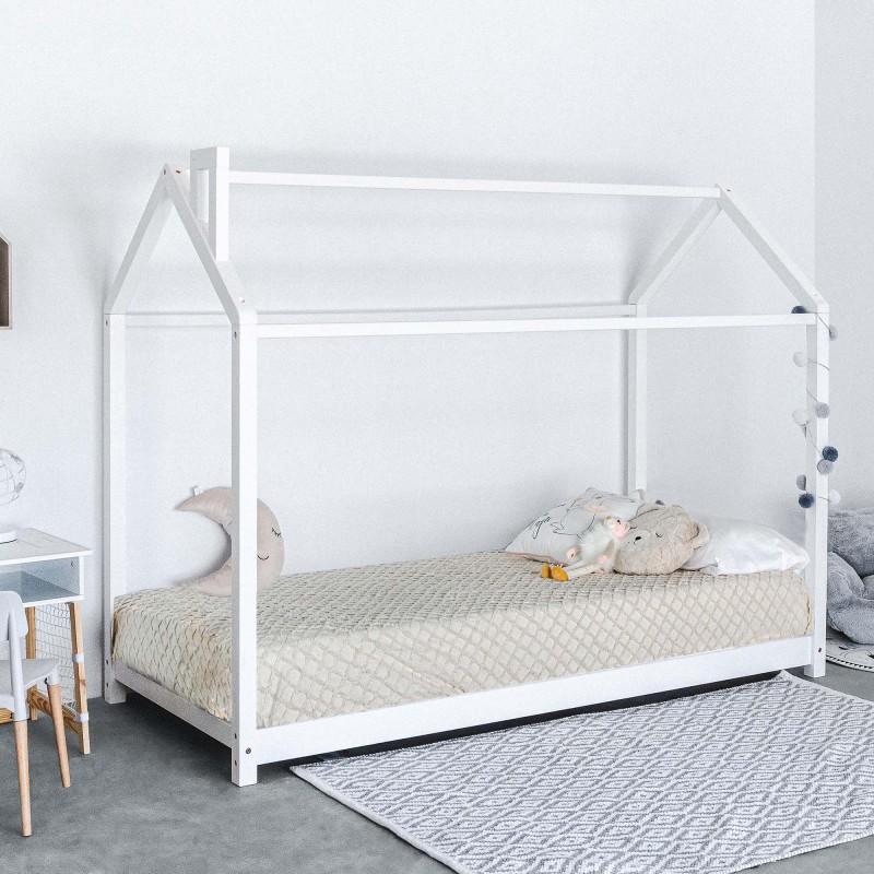 Cama infantil con chimenea Montessori 90x190cm