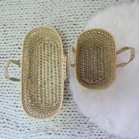 Natura cesto oval pequeno de vime xxcm