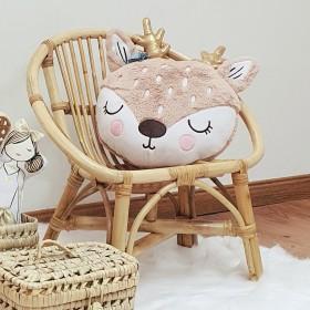 Natura chaise ovale en bambou 50x35x28cm