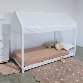 Copito para cama casita Montessori blanco