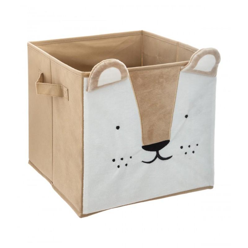 León feliz caja de almacenamiento 29x29x29cm