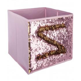 Sequins caixa de armazenamento 23x24x24cm