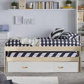 Cama compacta dos camas + 2 cajones Lilo 90x190cm