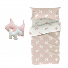 Dog set de funda nórdica y cojín. Cama 90/105x190/200cm