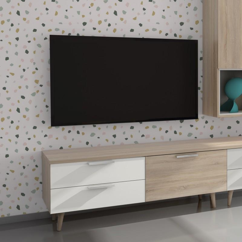 Anna móvel de TV com gavetas 52,4x137,6x45cm
