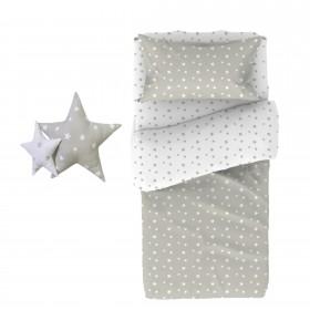 Star Capa de edredão e conjunto de almofada. Cama 90/105x190/200cm