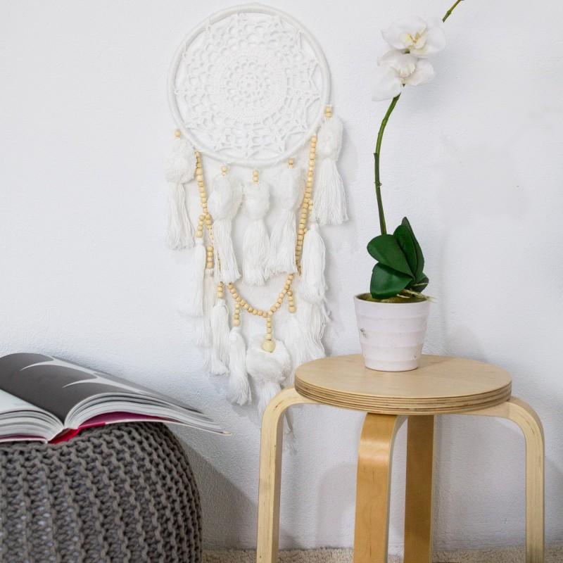 Atrapasueños pompones y cuentas  Decoración Infantil Decoración de pared    Muemue - Muebles
