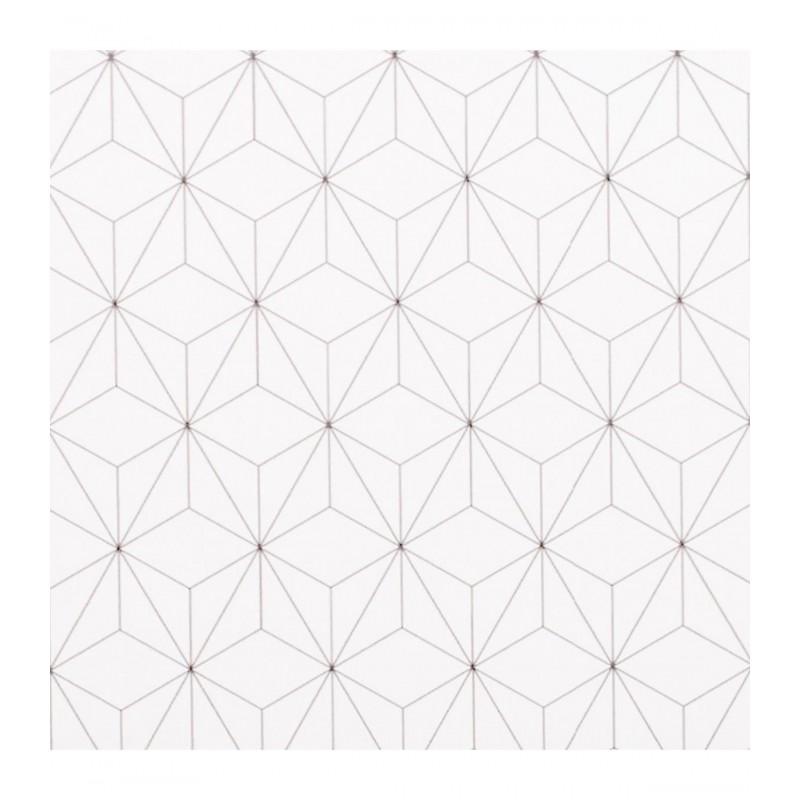 Geometric mesita de noche 2 cajones 53x40x30cm