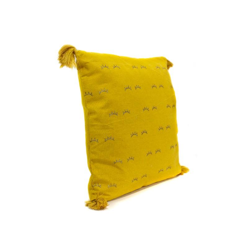Cojin pestañas doradas