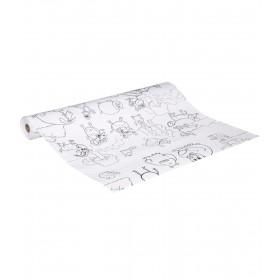 Funny rolo de papel com desenhos para colorir 30m