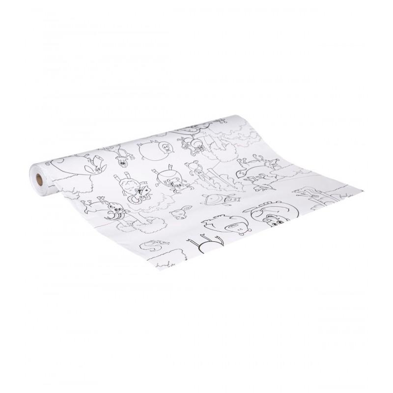 Funny rollo de papel con dibujos para colorear 30m