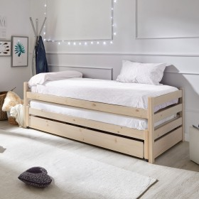 Pepa Cama ninho tripla madeira lacada a branco 90x200/90x190cm